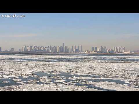꽁꽁 얼어버린 오이도 앞바다 (frozen ocean near the Incheon in Korea.)