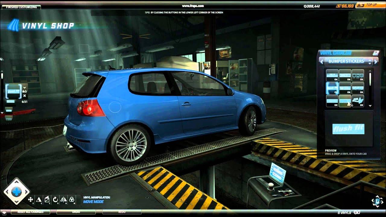 Bumper sticker design tips - Need For Speed World Bumper Sticker Vinyls