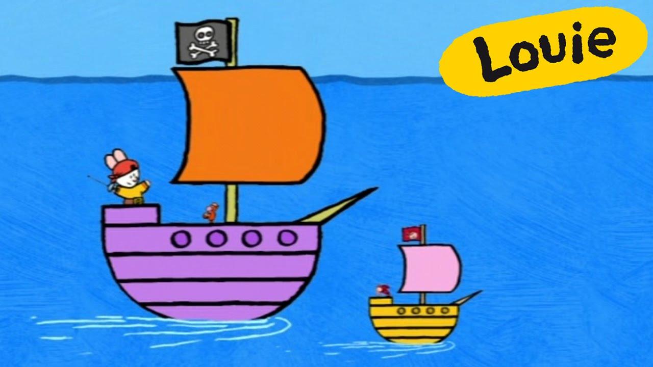 Barco pirata louie dibujame un barco pirata dibujos - Imagenes de barcos infantiles ...