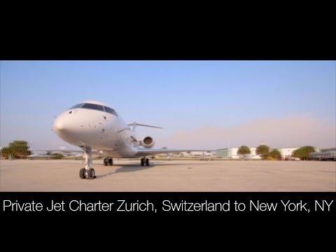 Private Jet Charter Zurich, Switzerland to New York, NY