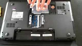Opening a Toshiba Satellite Pro C50 to Upgrade Hard Drive and Memory
