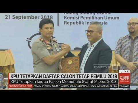 KPU Tetapkan Jokowi & Prabowo Capres 2019