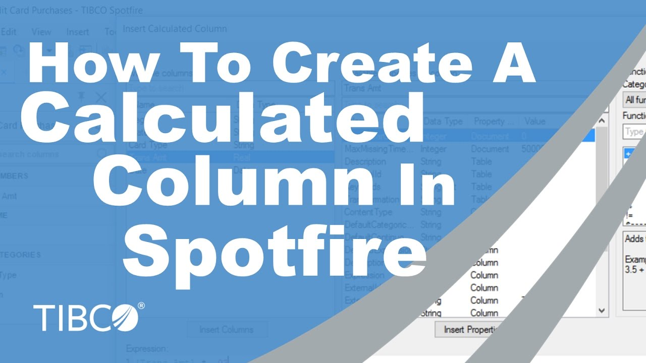 How To Create A Calcuated Column In Spotfire