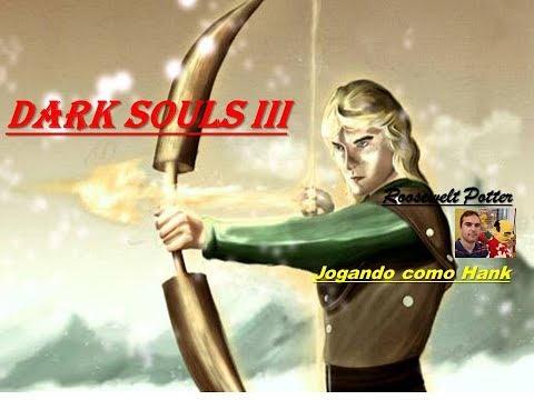 Dark Souls 3 cosplay Hank do desenho Caverna do Dragão vs Aldrich, Devourer of Gods