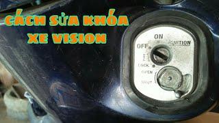 Cách sử lý xe vision bị hỏng nắp khóa chống trộm