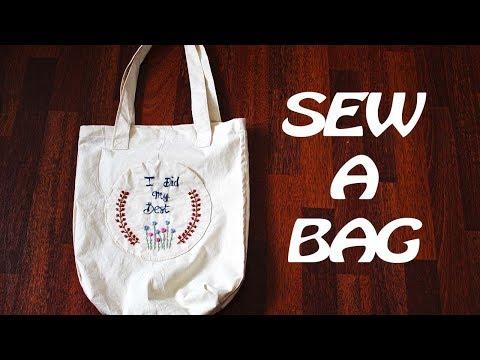 DIY School Supplies: How To Sew A Bag | Menjahit Beg Sendiri