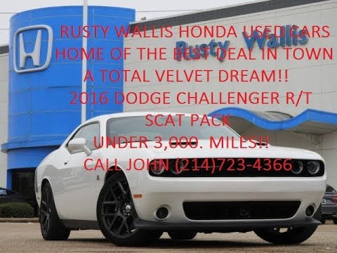 2016 dodge challenger r t scat pack at rusty wallis honda used cars 214 723 4366 youtube. Black Bedroom Furniture Sets. Home Design Ideas
