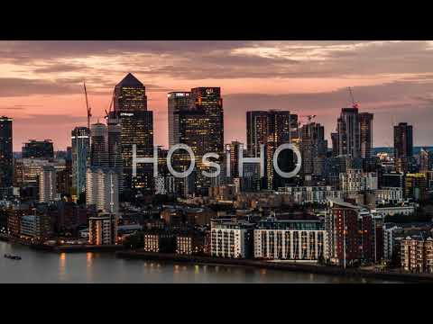 Aerial View Of Canary Wharf, London Skyline, London Financial District, London, United Kingdom