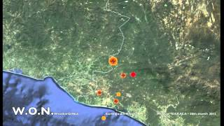 Large EarthQuake Mexico region 7.4 mag 20th march 2012
