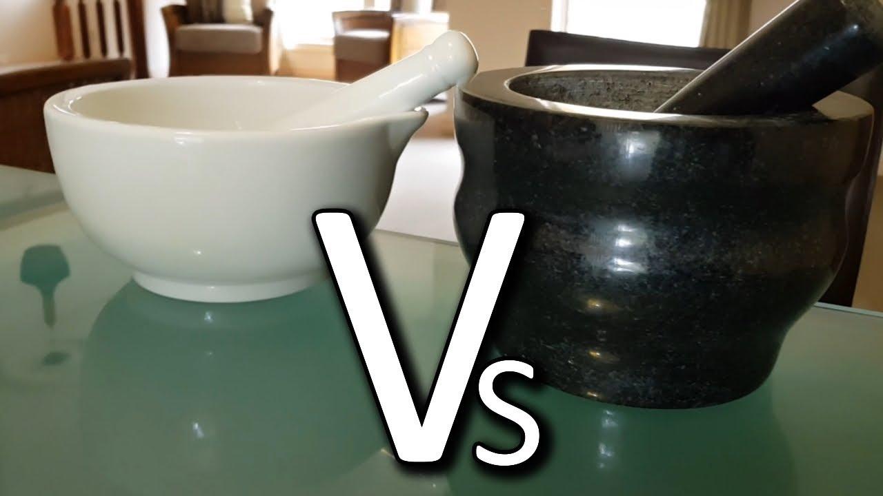 granite vs porcelain mortar and pestle cole mason review youtube
