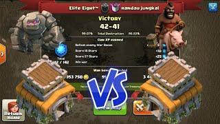 || Clash Of Clans || Elite Eight Vs Randua Jungkal || Th8 War Recap ||