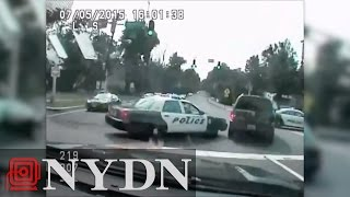 Wild New Jersey police chase caught on dash cam