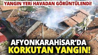 Dinar'da Ev Yangını! Soba Bacasından Çıkan Yangında Ev Küle Döndü