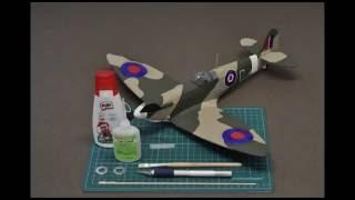 Guillow's test flight - Spitfire JHC (Kit No: 504)