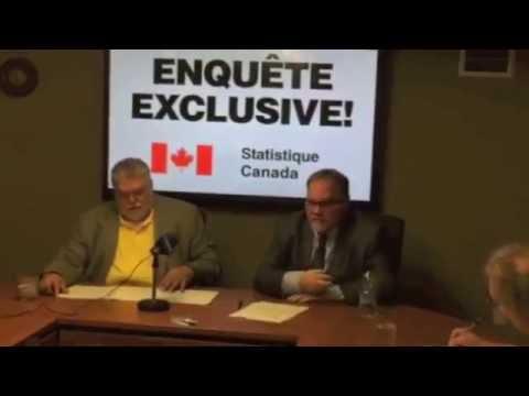 Conférence de presse annonçant l'enquête exclusive de Statistique Canada