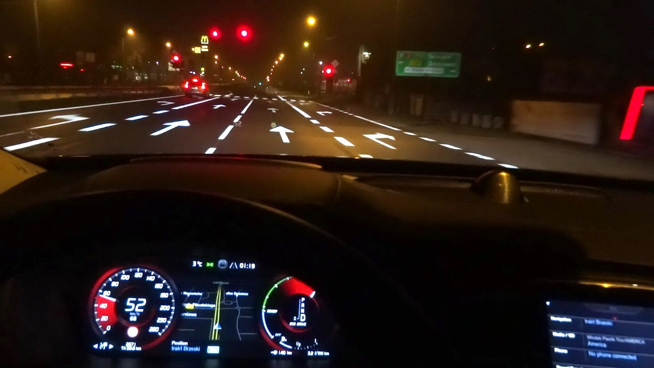 2016 Volvo XC90 T6 (320hp) First Test Drive Urban Night City Driving Impressions part 2 - YouTube