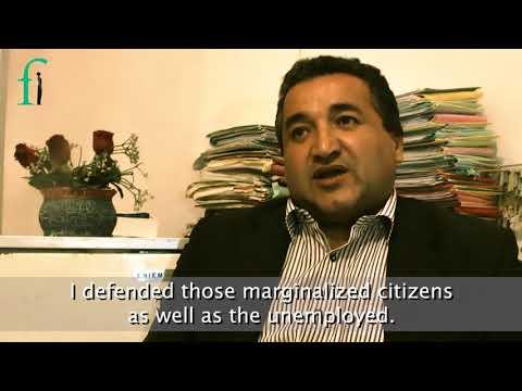 2018 Front Line Defenders MENA Regional Award Winner - Hassan Bouras, Algeria