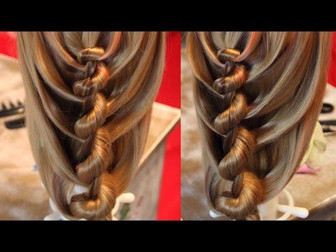 прически  с  плетением  кос  видео
