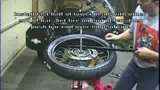 Repeat youtube video Motorcycle Tire Change