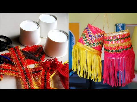 Paper cup lantern craft DIY  best out of waste|unique rangoli by mayuri