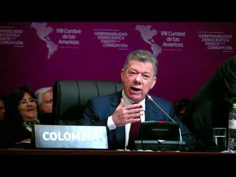 Presidente Santos en la plenaria de la VIII Cumbre de las Américas - 14 de abril de 2018