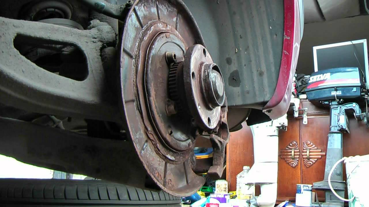hight resolution of peugeot rear brake pad and handbrake shoe service youtubepeugeot brakes diagram 12