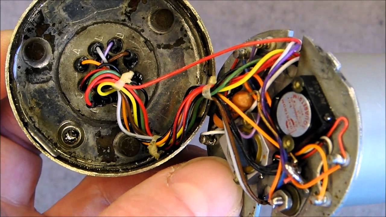 medium resolution of the insides of a sealed general electric fuel flowmeter aircraft instrument