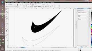 How to draw Nike logo in Corel Draw
