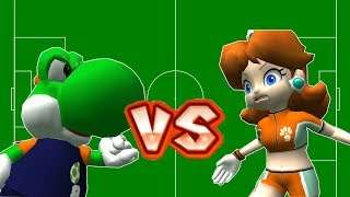 Super Mario Strikers - Daisy Vs Yoshi, Koopa Round 7 (Professional Difficulty) in Super Star Cup