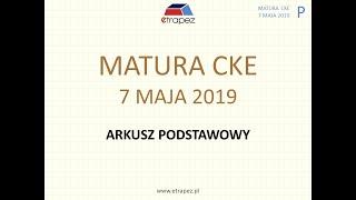 Matura MAJ 2019 matematyka - poziom podstawowy