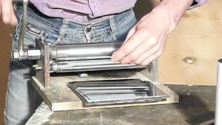 Изготовление трубок из нержавеющей листовой  стали на вальцах.