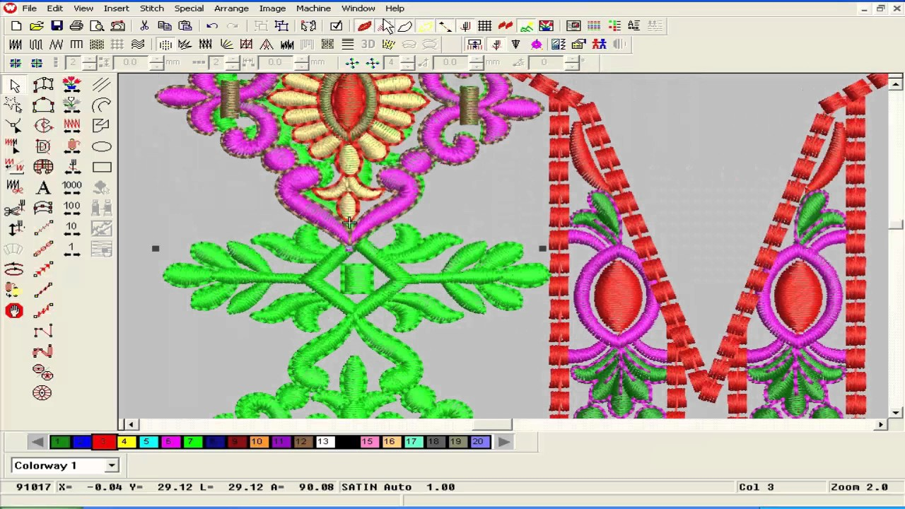 Embroidery designing tutorial on wilcom software