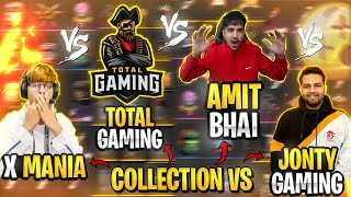 COLLECTION VS WITH TOTAL GAMING, XMANIA, DESIGAMER - #JONTYGAMING - GARENA FREEFIRE BATTLEGROUND