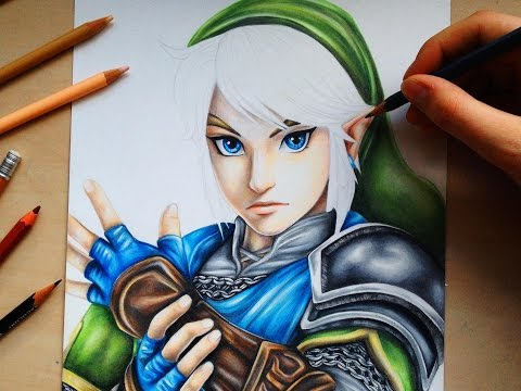 drawing-link-from-the-legend-of-zelda---hyrule-warriors