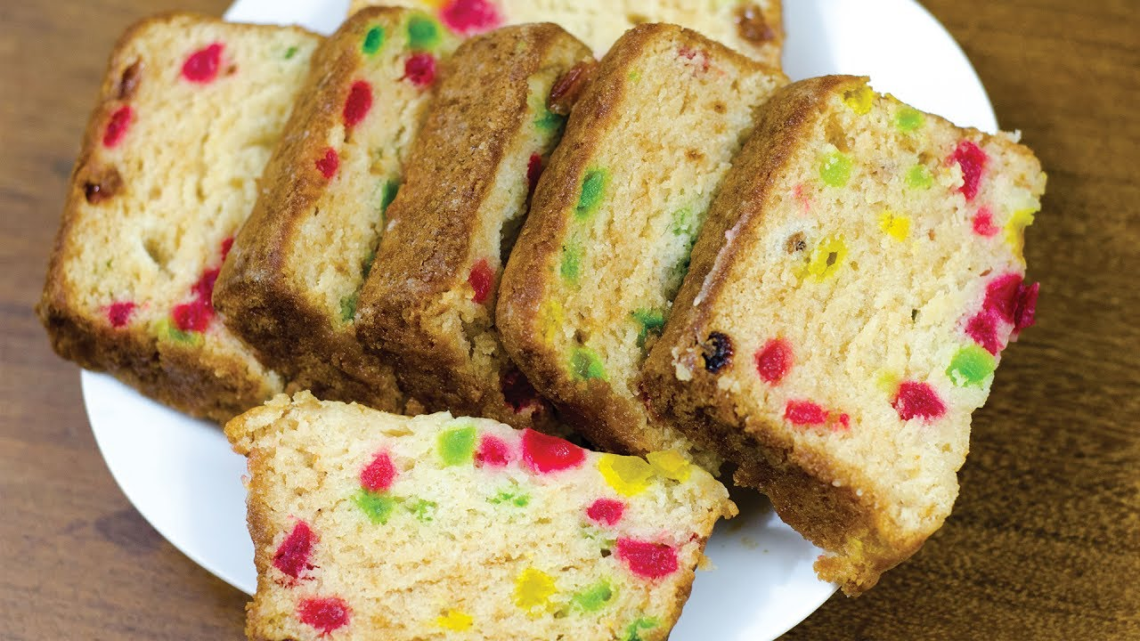 Cake Recipes In Telugu Without Oven: EGGLESS TUTTI FRUTTI CAKE L WITHOUT OVEN