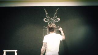 Time Lapse Chalk board drawing