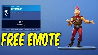 "*NEW* FREE EMOTE ""HOT MARAT"" FORTNITE"