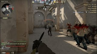 CSGO Zombie Mod Gameplay on de dust2 map Server GFL