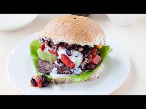 Portobello Mushroom Burgers With Southwest Avocado Ranch | HuffPost Life