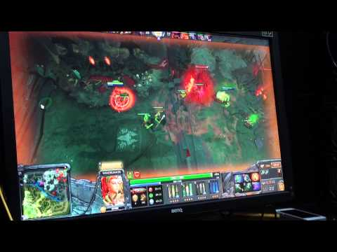 Dendi Playing Windrunner On Stream - Live VOD From Na`Vi.Dota 2 Bootcamp