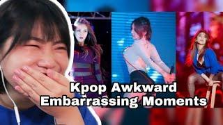 Kpop Awkward Embarrassing Moments [Funny Kpop Idols] REACTION