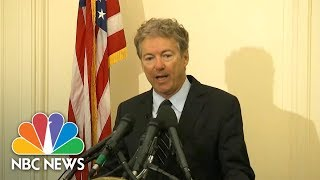 Senator Rand Paul Announces He Will Oppose Nominations Of Mike Pompeo And Gina Haspel | NBC News