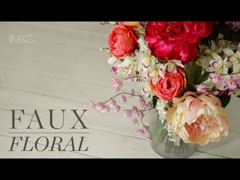 Faux Floral How To Arrange Artificial Flowers Marks And Spencer