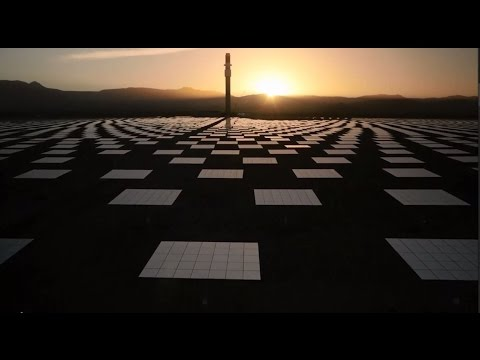 The Crescent Dunes Solar Energy Project - a solar thermal power plant that works day and night.