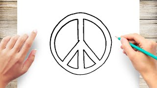 How to Draw a Peace Sign Step by Step for Beginner