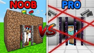 Minecraft NOOB vs. PRO: PRISON ESCAPE in Minecraft! w/ MooseCraft (MINECRAFT BATTLE)