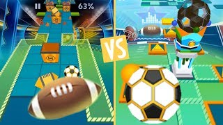 Rolling Sky American Football VS World Cup (Football VS Football)