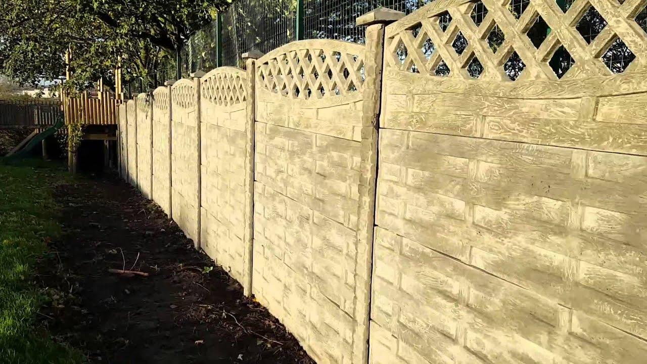 Decorative concrete fence panels UK. P&A Fencing - YouTube