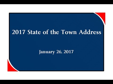 2017 Mayor's State of the Town Address