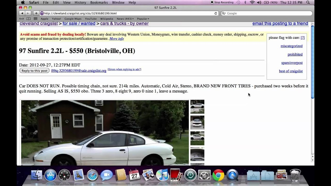 Craigslist Cleveland Ohio Used Cars And Trucks Deals Online For Sale By Owner Youtube